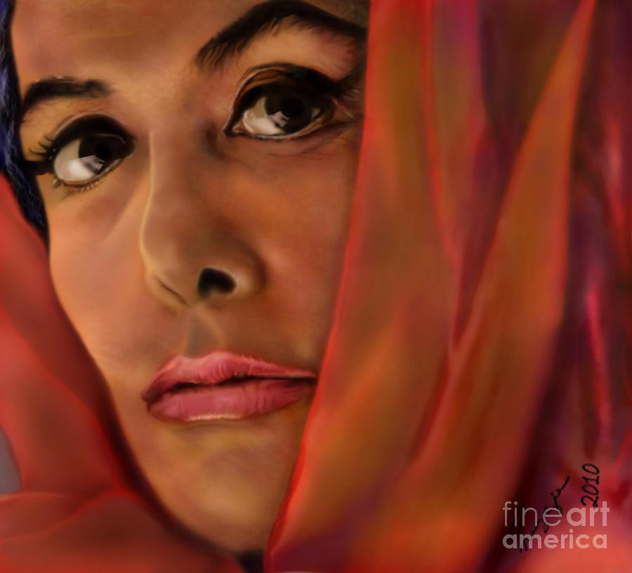 Lena Horne Painting - Lena Horne-glass Windows by Reggie Duffie