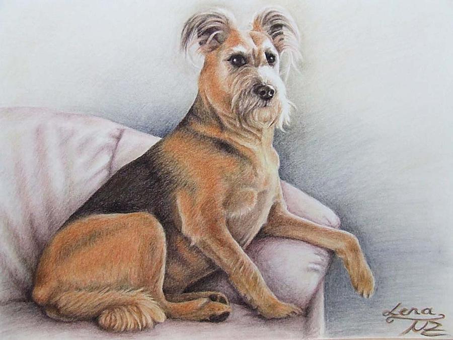 Dog Pastel - Lena by Nicole Zeug