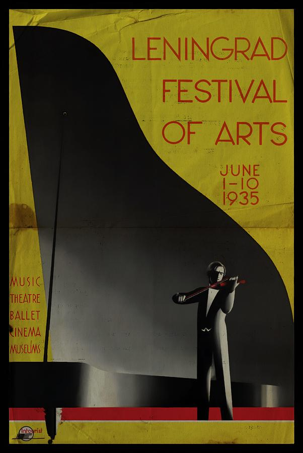 Leningrad Festival of Arts - Folded by Vintage Advertising Posters