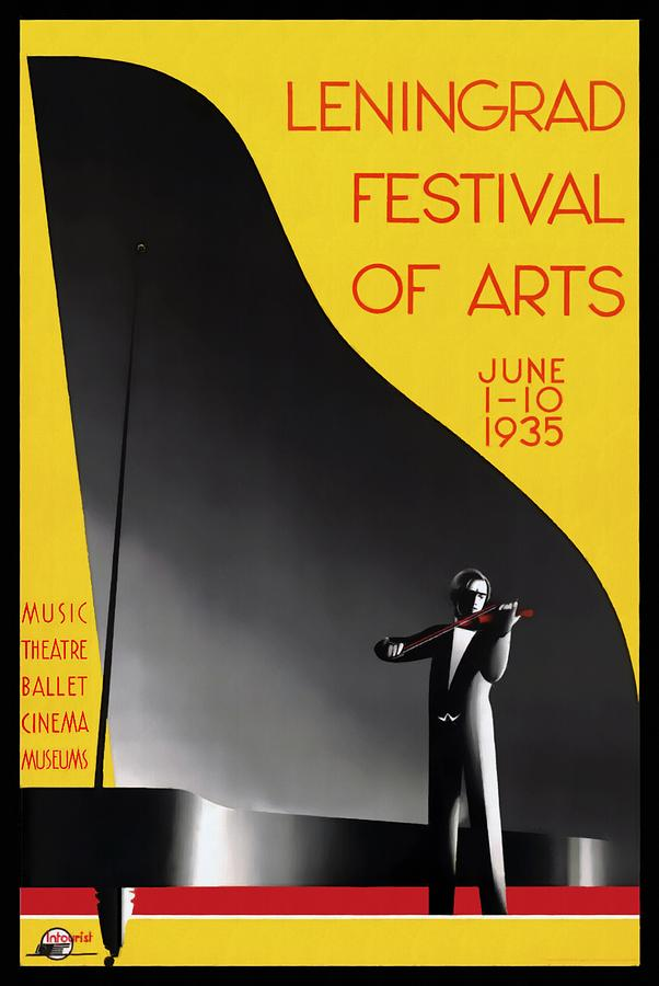 Leningrad Festival of Arts - Restored by Vintage Advertising Posters