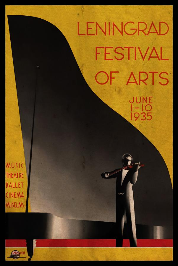 Leningrad Festival of Arts - Vintagelized by Vintage Advertising Posters