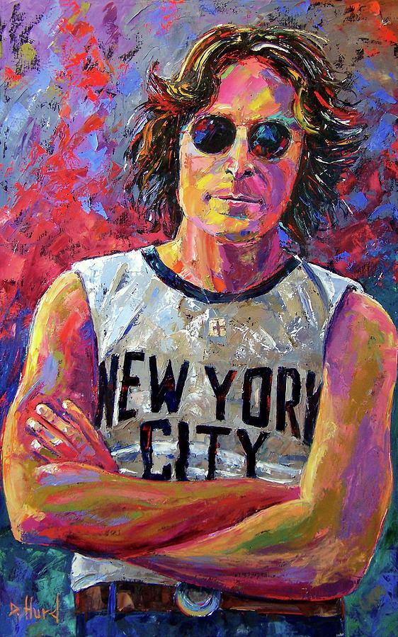 lennon new york painting by debra hurd