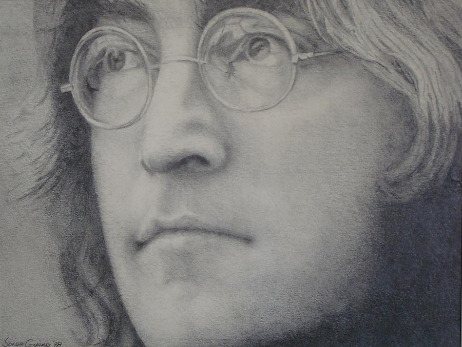 The Beatles Painting - Lennon by Sonja Guard