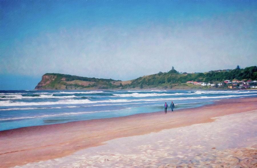 Beach Digital Art - Lennox Stroll by Chris Hood