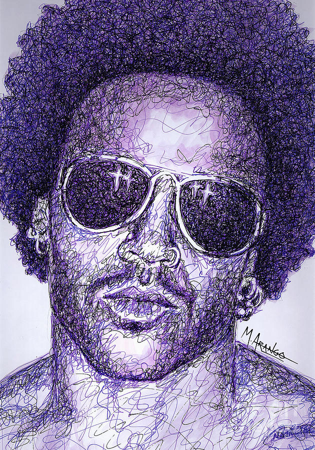 Lenny Kravitz Drawing - Lenny Kravitz by Maria Arango