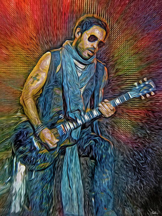 Lenny Kravitz Mixed Media - Lenny Kravitz, musician by Mal Bray