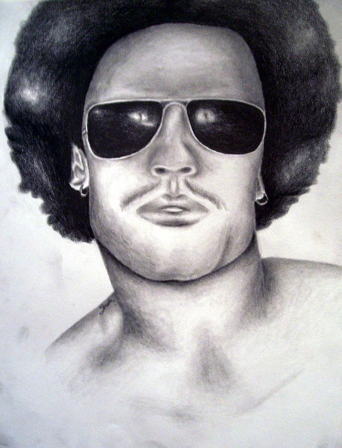 Lenny Kravitz Drawing by Shasta Miller