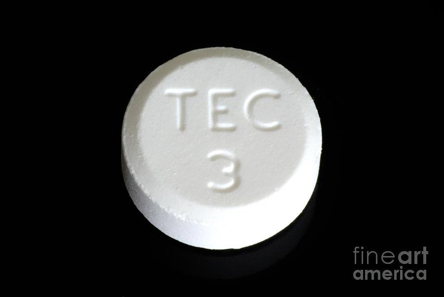 Lenoltec Combination Pain Relief Pills Photograph by Scimat