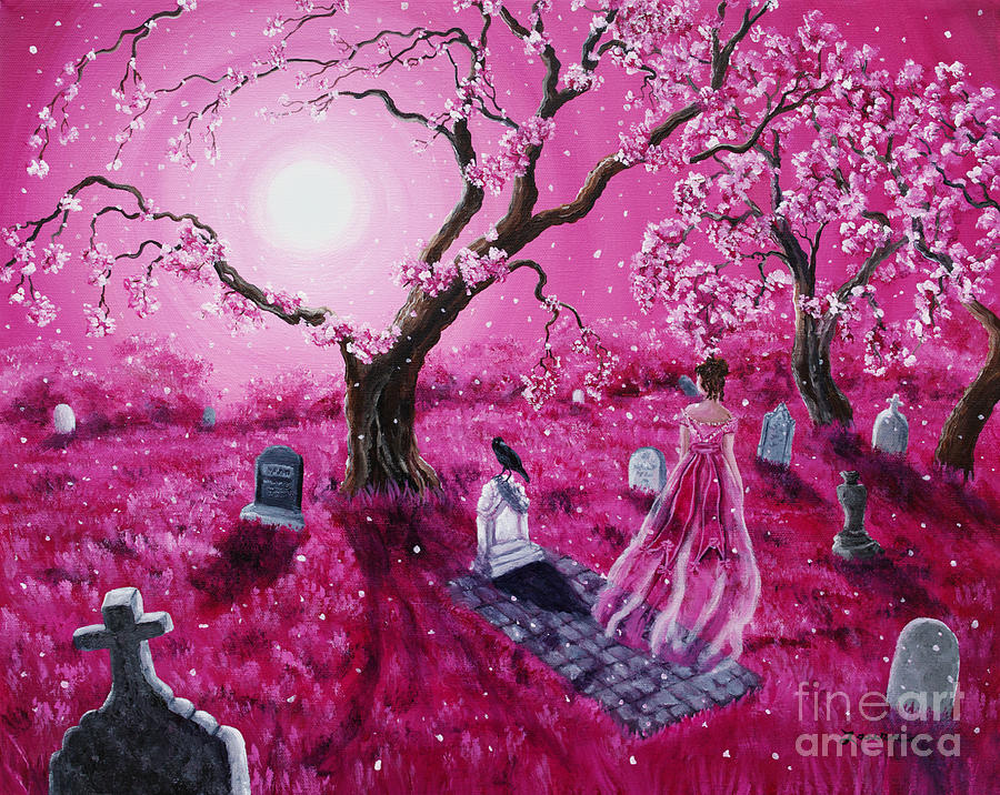 Moon Painting - Lenore In The Breaking Dawn by Laura Iverson
