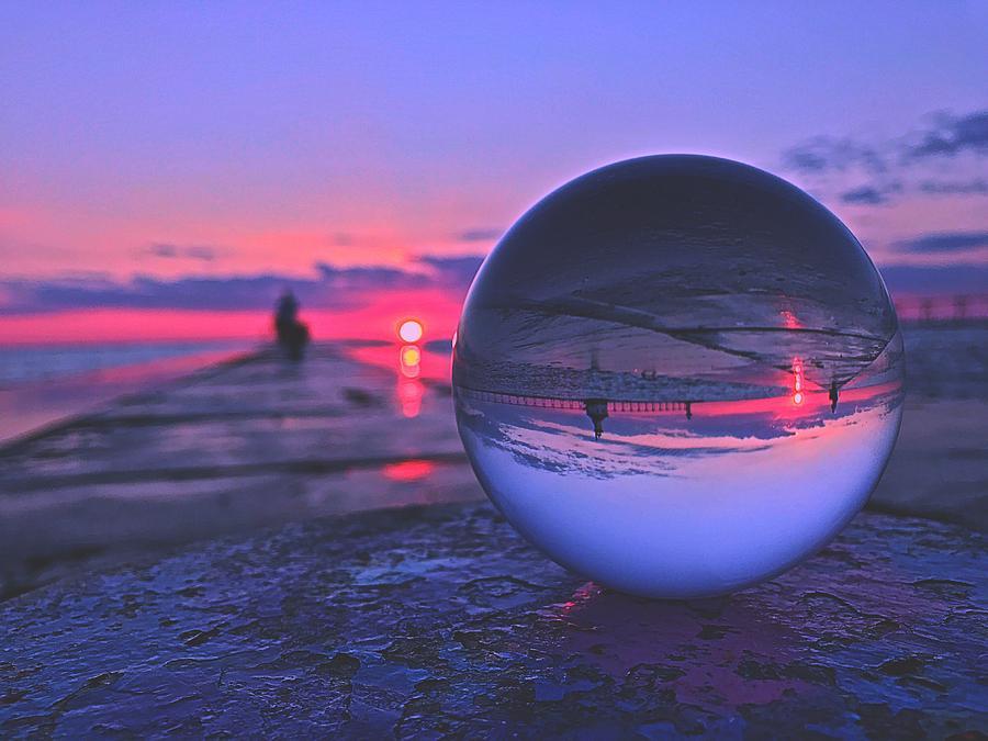 Lensball Sunset Photograph By Matt Hunter