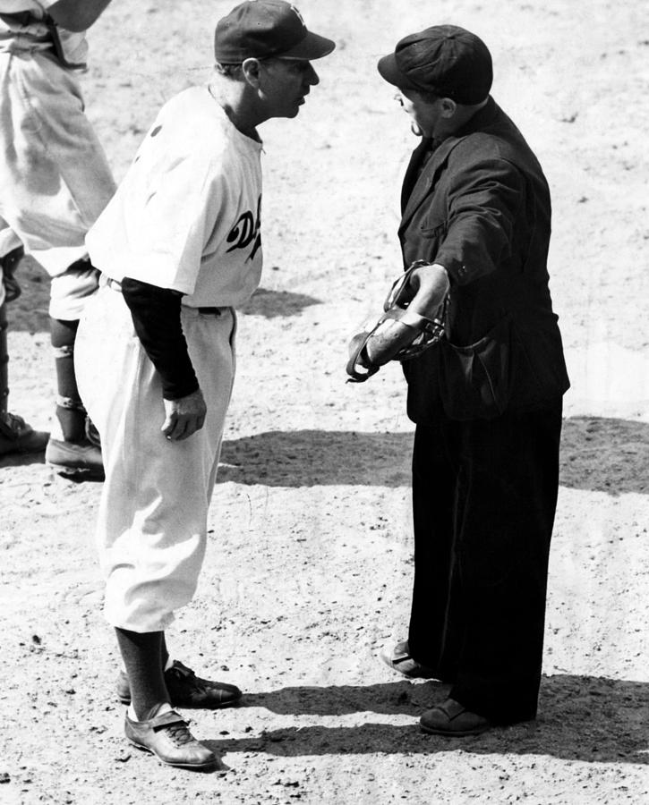 1940s Photograph - Leo Durocher Argues With An Umpire by Everett