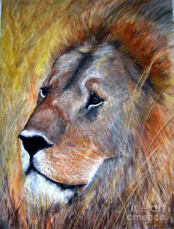 Lion Painting - leo by Frances Marino