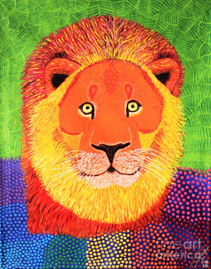 Leo The Lion Painting by Christine Noble