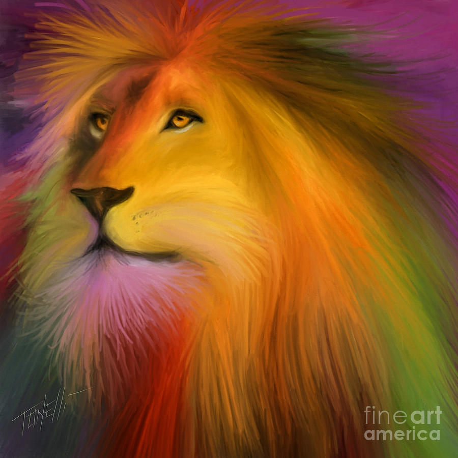 Courageous Leo Mixed Media
