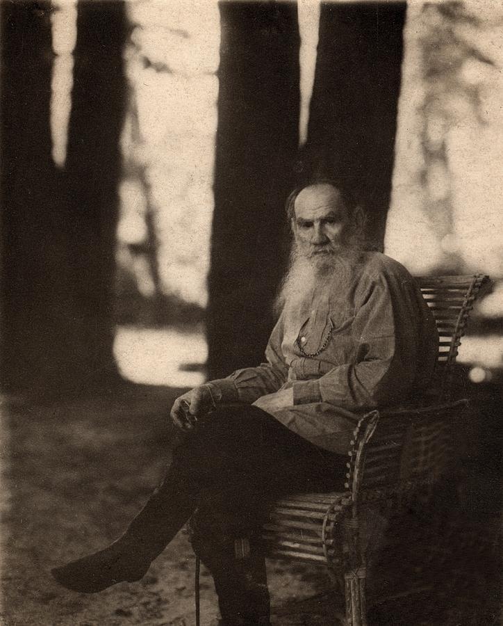 Historical Photograph - Leo Tolstoy 1828-1910 Russian Novelist by Everett