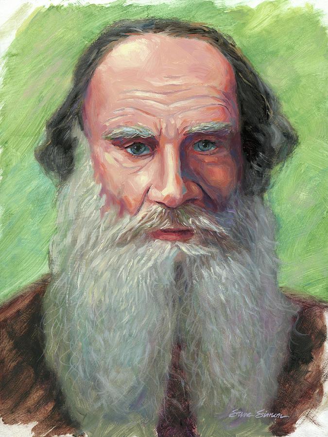 Leo Tolstoy Painting