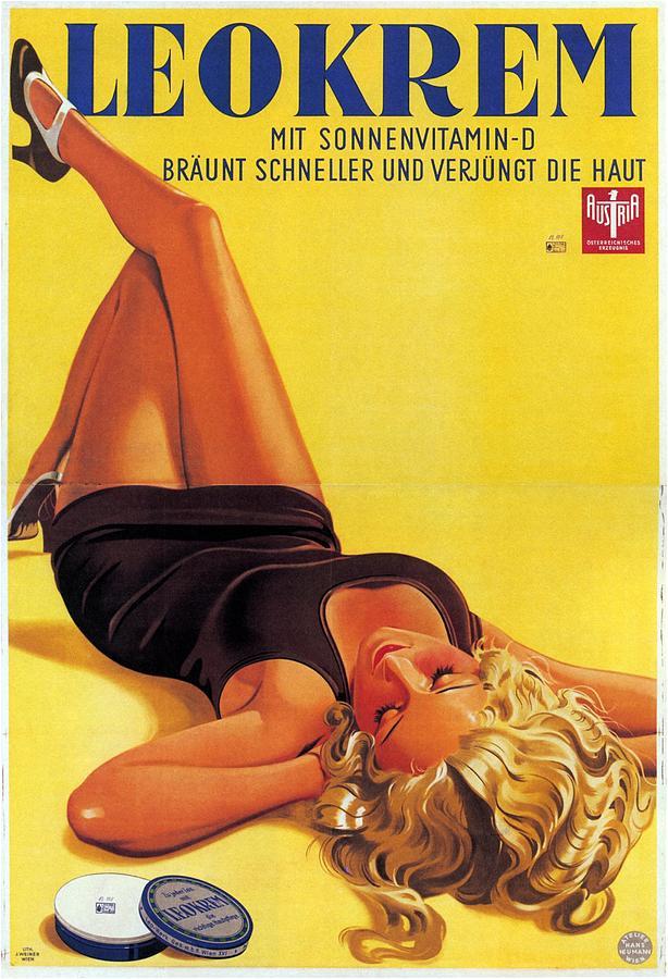 Leokrem - Mit Sonnenvitamin-d - Vintage Advertising Poster Mixed Media