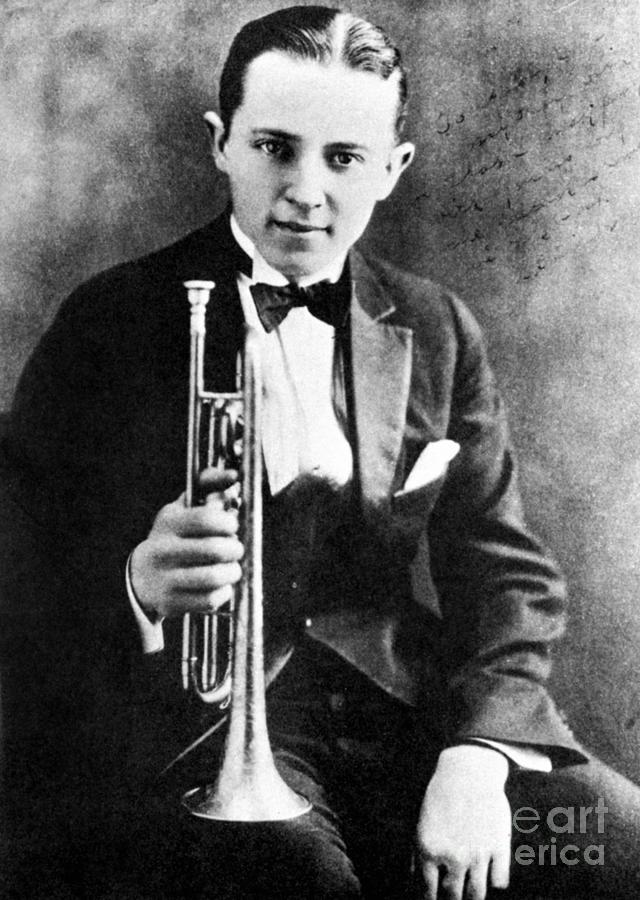 1924 Photograph - (leon) Bix Beiderbecke by Granger
