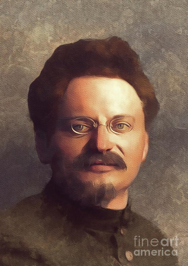 Leon Painting - Leon Trotsky, History Portraits by Esoterica Art Agency