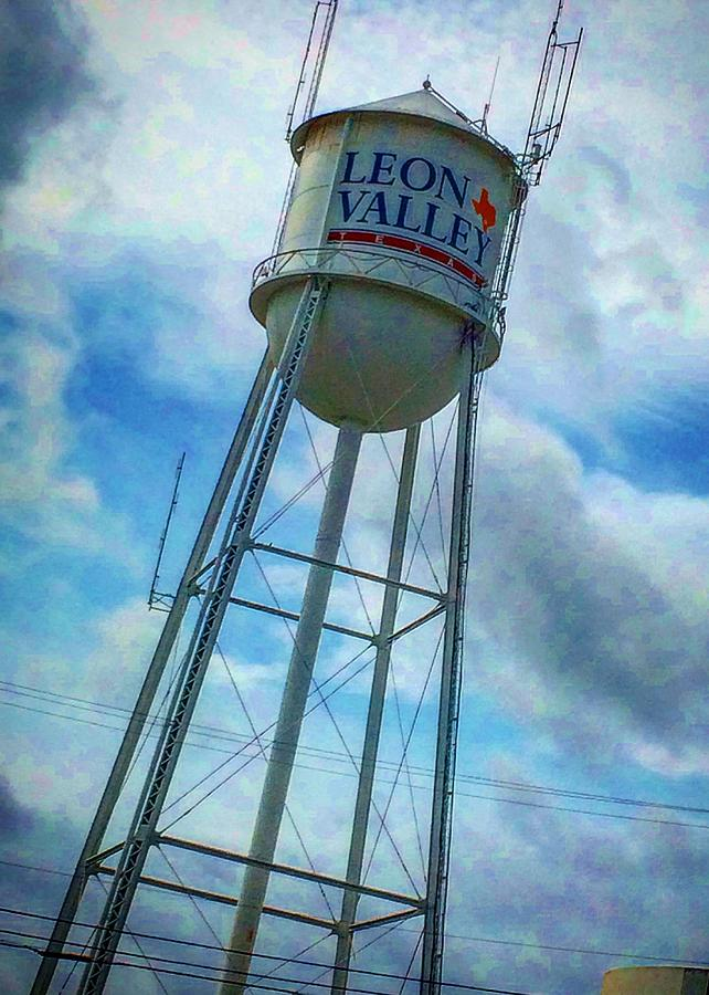 Leon Photograph   Leon Valley Water Tower By Ranchers Eye Photography