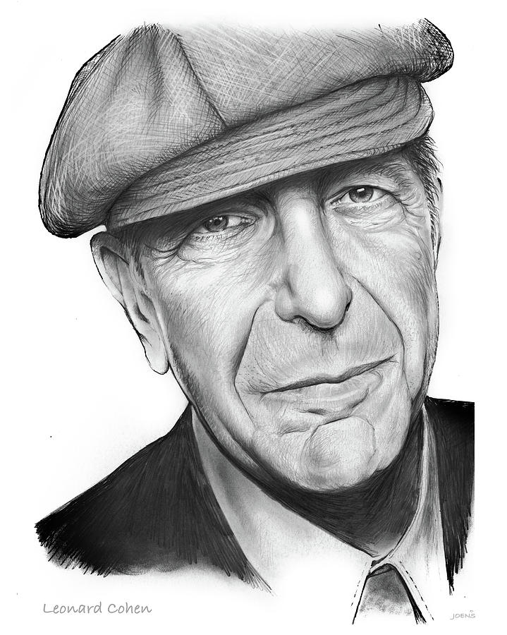 Leonard Cohen Drawing - Leonard Cohen by Greg Joens