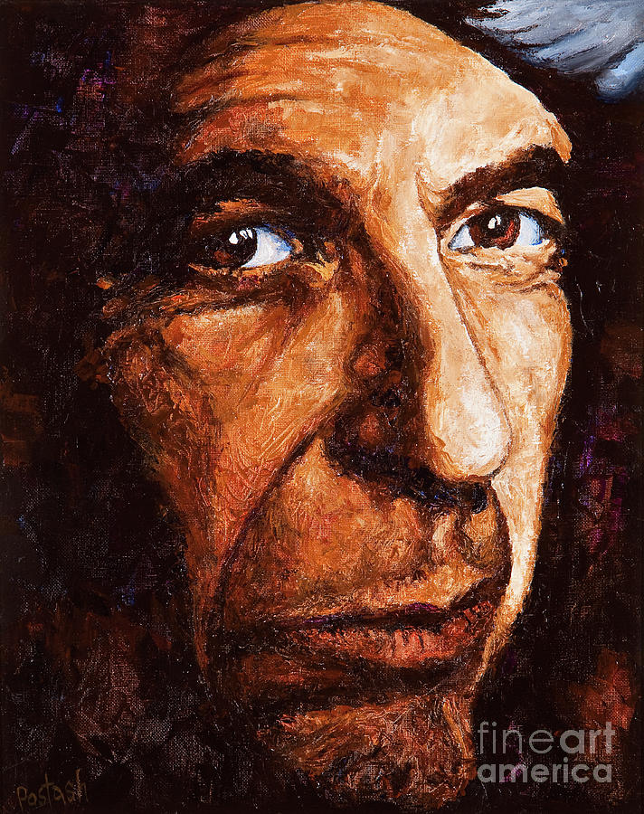 Colorful Painting - Leonard Cohen by Igor Postash