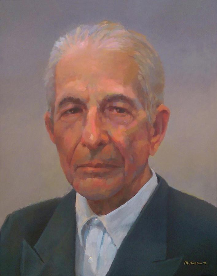 Leonard Cohen Painting - Leonard Cohen by Mike Hanlon
