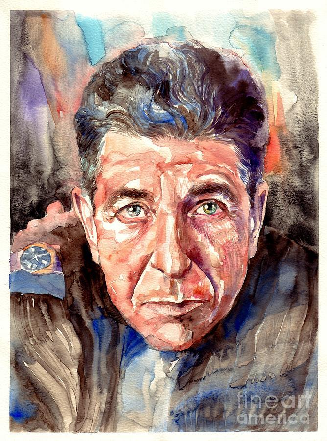 Leonard Painting - Leonard Cohen Painting by Suzann Sines