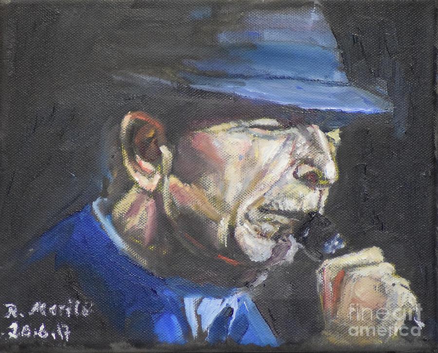 Leonard Cohen by Raija Merila