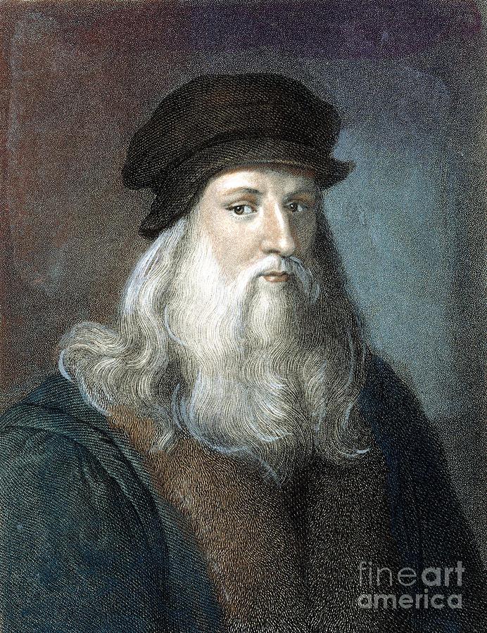 15th Century Photograph - Leonardo Da Vinci - To License For Professional Use Visit Granger.com by Granger