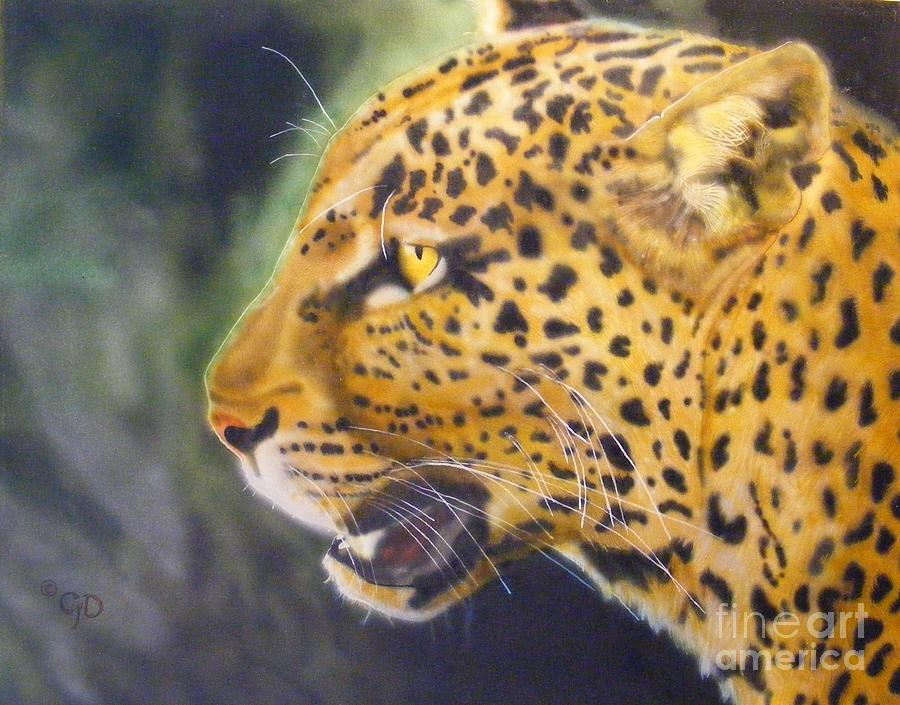 Cats Painting - Leopard by Crispin  Delgado