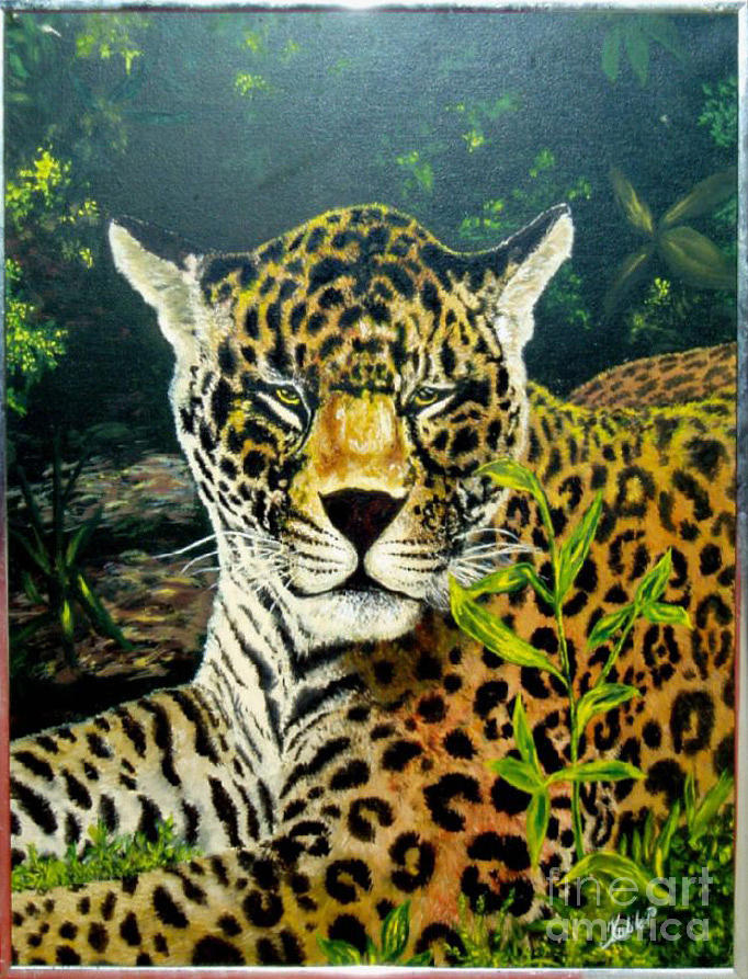 Animals Painting - Leopard by Peter Kulik