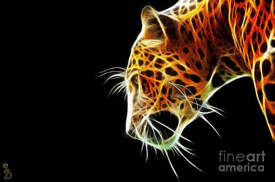 Leopard Digital Art - Leopard by The DigArtisT