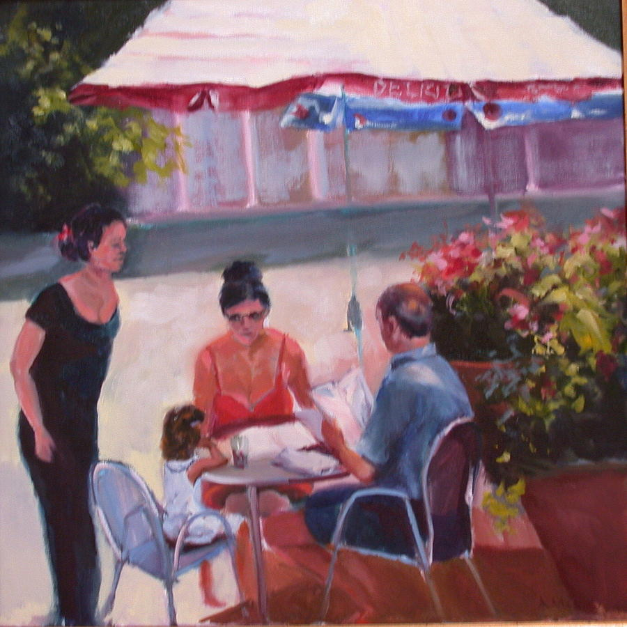 Restaurant Painting - Leopolds In Georgetown by Anne McNally