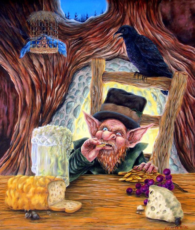 Leprechauns Painting - Leprechauns Lair by Heather Calderon