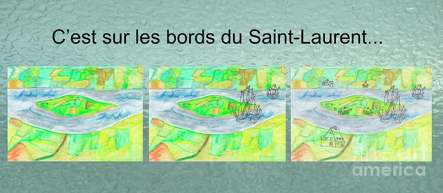Island Mixed Media - Cest Sur Les Bords Du Saint-laurent Mug Shot by Dominique Fortier