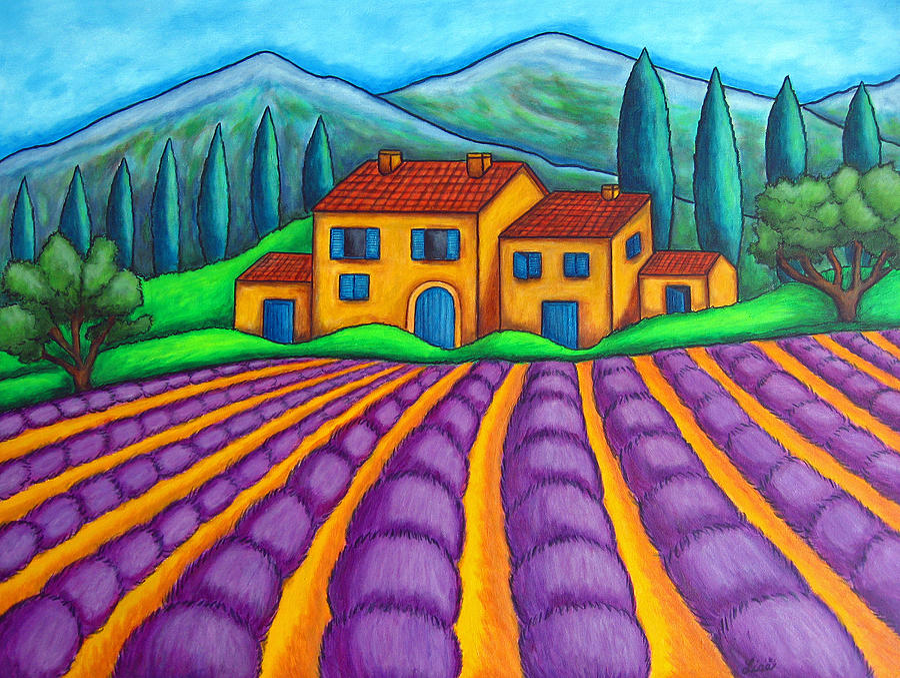 Provence Painting - Les Couleurs De Provence by Lisa  Lorenz