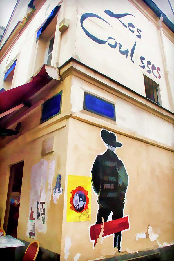 Paris Photograph - Les Coulisses, Paris, France by Lila Bahl