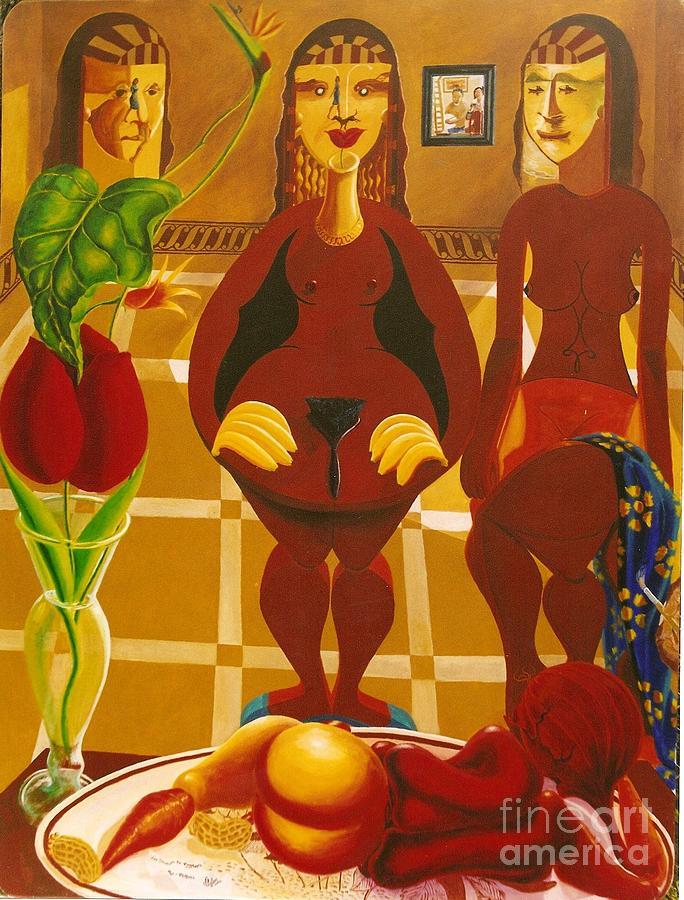 Les Demoiselles De Moi Seul Painting by David G Wilson