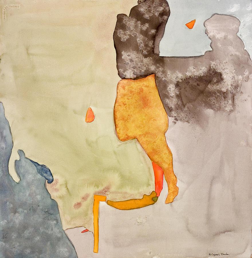 Abstract Painting - Les Demoiselles Of Santa Cruz V7 by Susan Cafarelli Burke