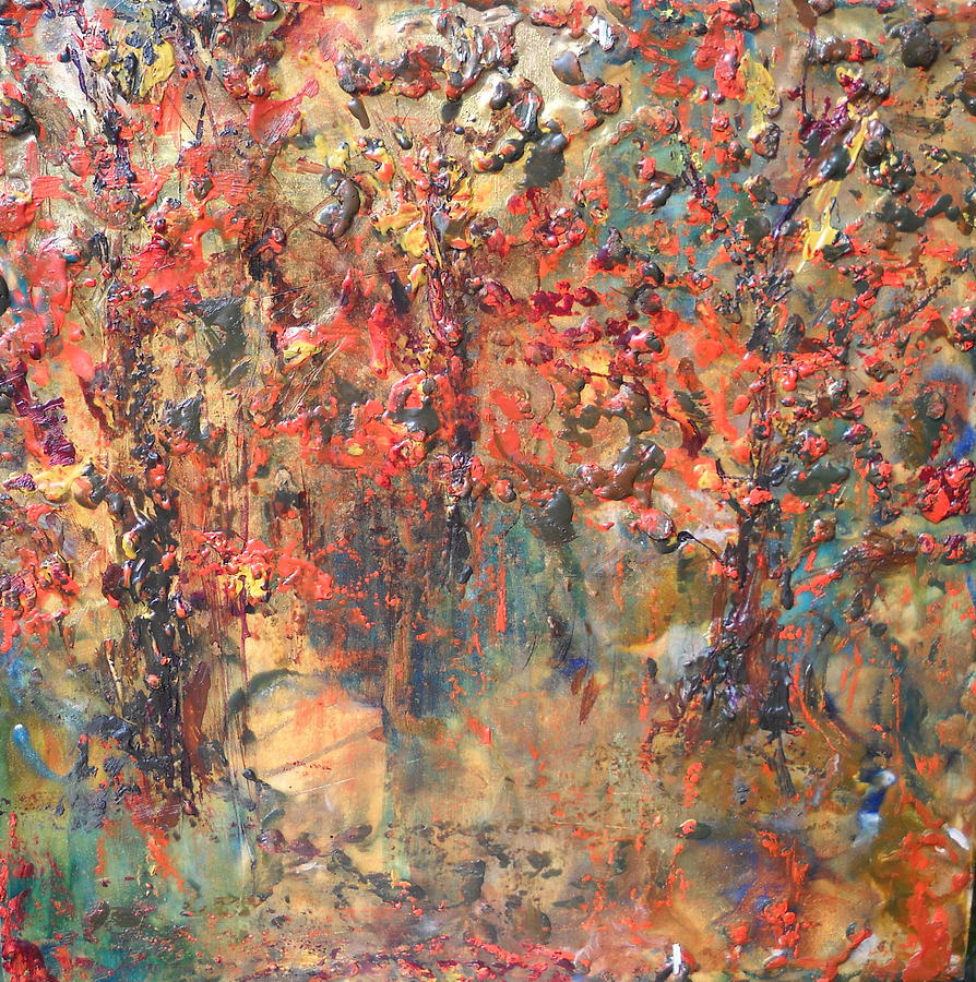 Fall Painting - Les Feuilles Mortes by Dawn Wilie