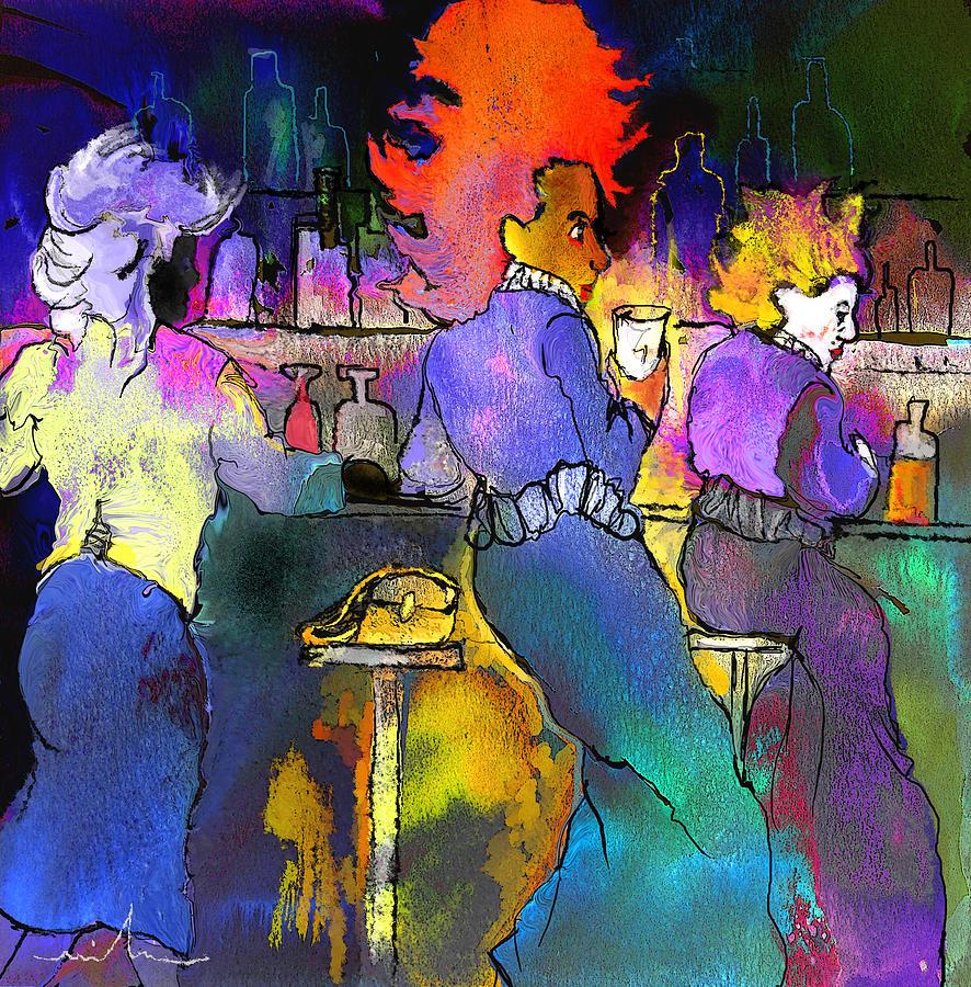 Dream Painting - Les Filles Du Cafe De La Nuit by Miki De Goodaboom