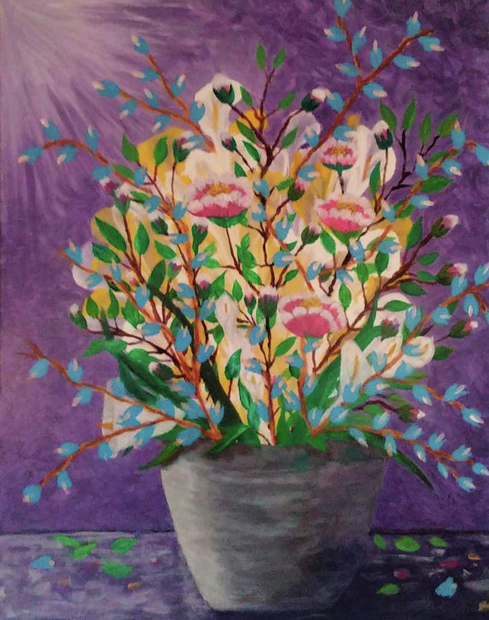 Still Life Painting - Les Fleurs by Diana Robbins