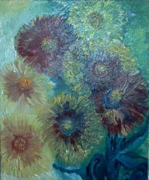 Fleurs Painting - Les Gaillardes by Norah Joy Clydesdale
