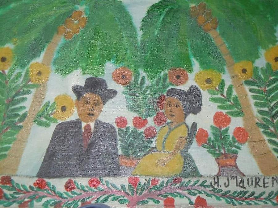 Ayiiboo Les Gens Heureux Painting