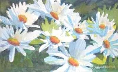 Floral Painting - Les Marguerites by Carol Hama Chang