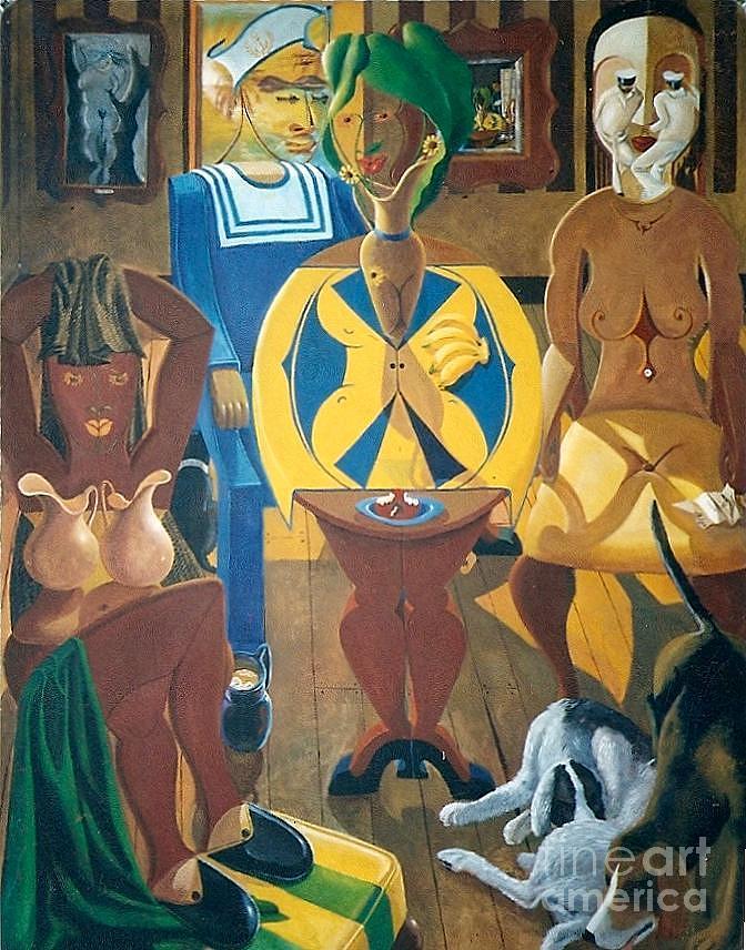 Les Matelots Jettent Lancre Painting by David G Wilson
