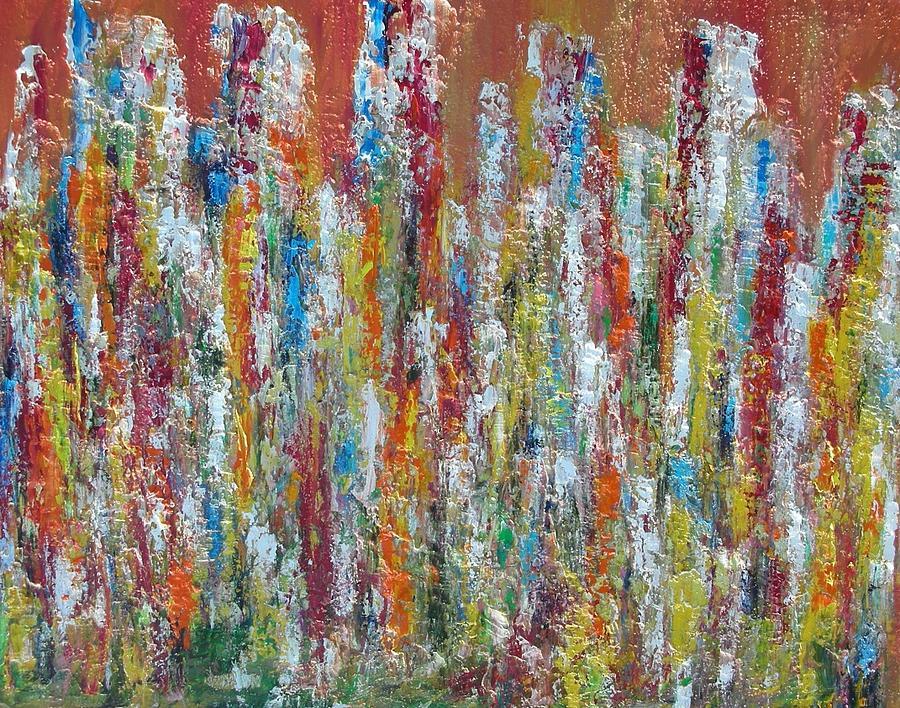 Les Passants Painting by Patrice Brunet