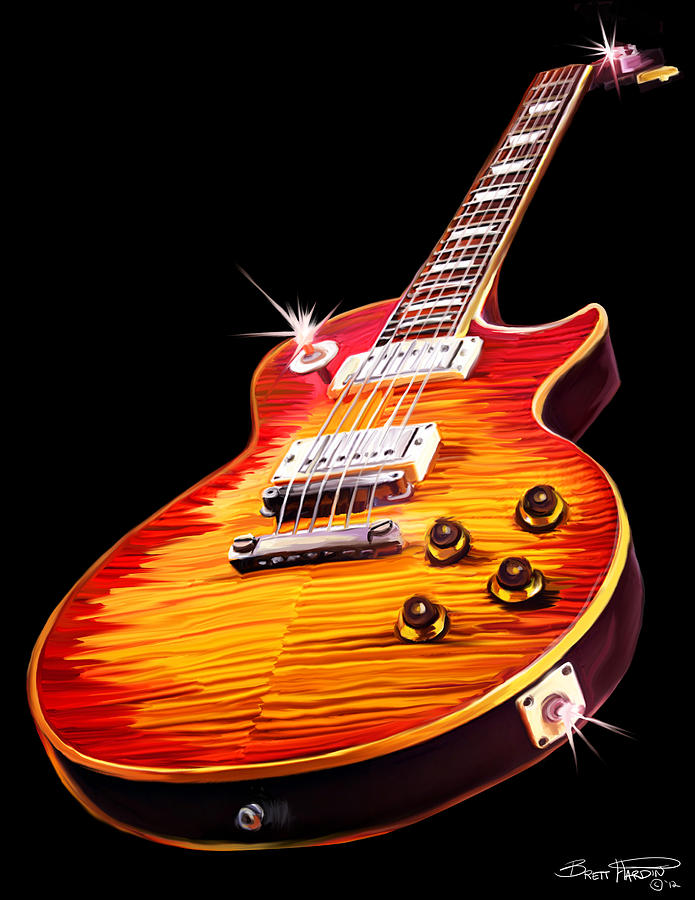 Les Paul Guitar by Brett Hardin