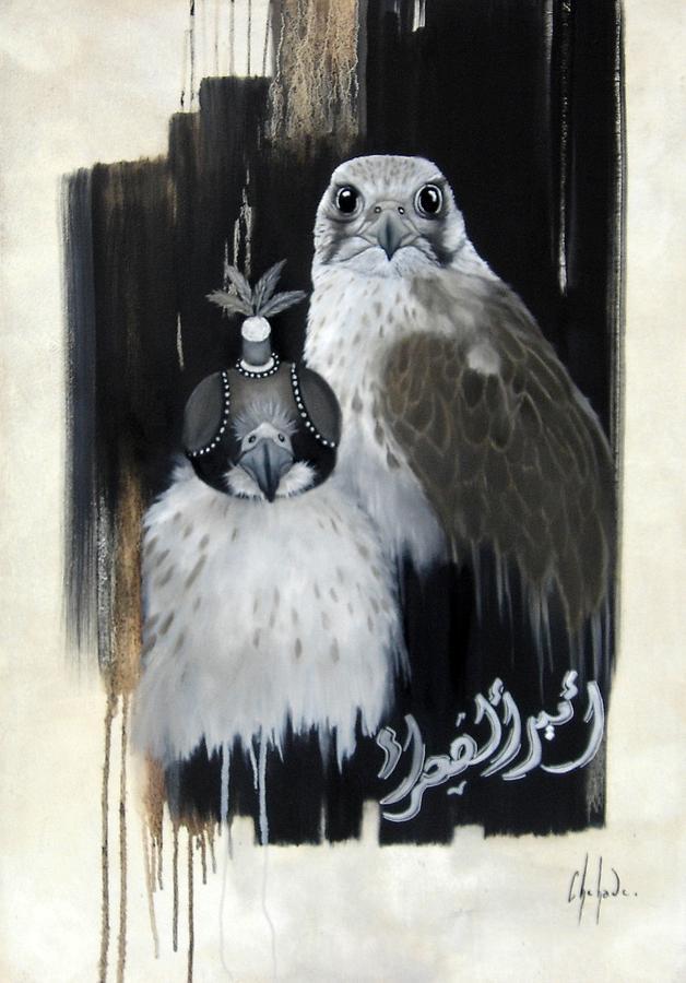 Falcons Painting - Les Princes Des Sables by Chehade Art